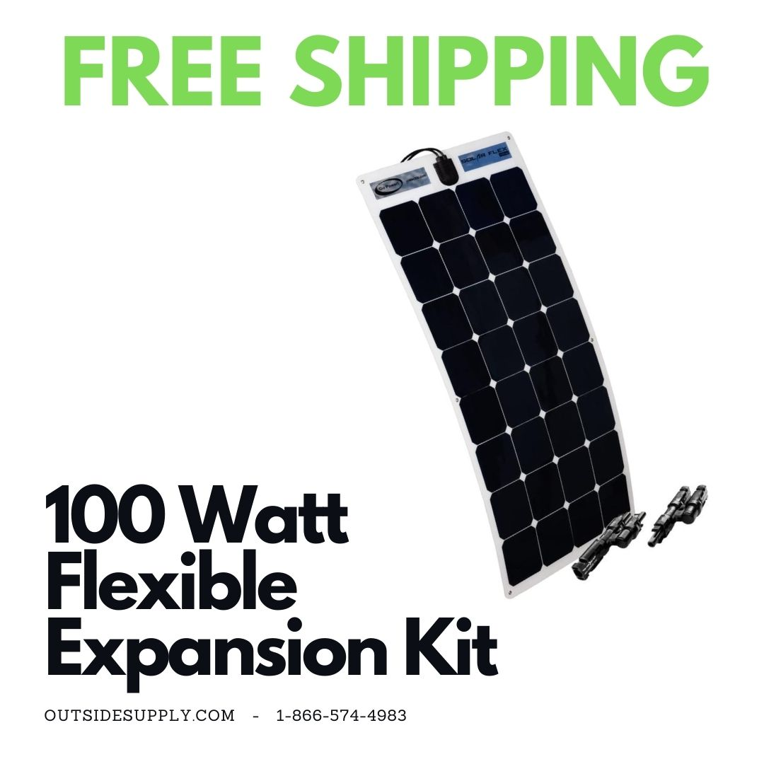 Picture of 100 WATT FLEXIBLE / 5.71 AMP SOLAR EXPANSION KIT