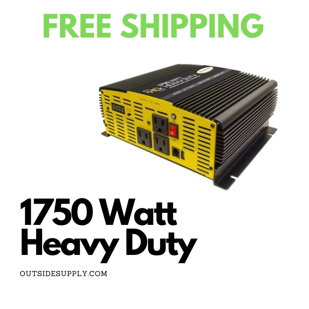 Picture of 1750 WATT MODIFIED SINE WAVE INVERTER 12V - HEAVY DUTY