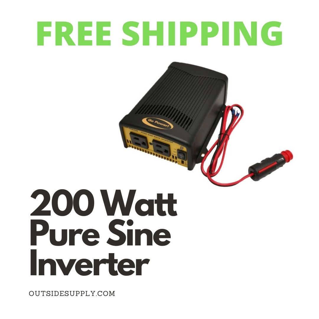 Picture of 200 WATT PURE SINE WAVE INVERTER 12 Volt