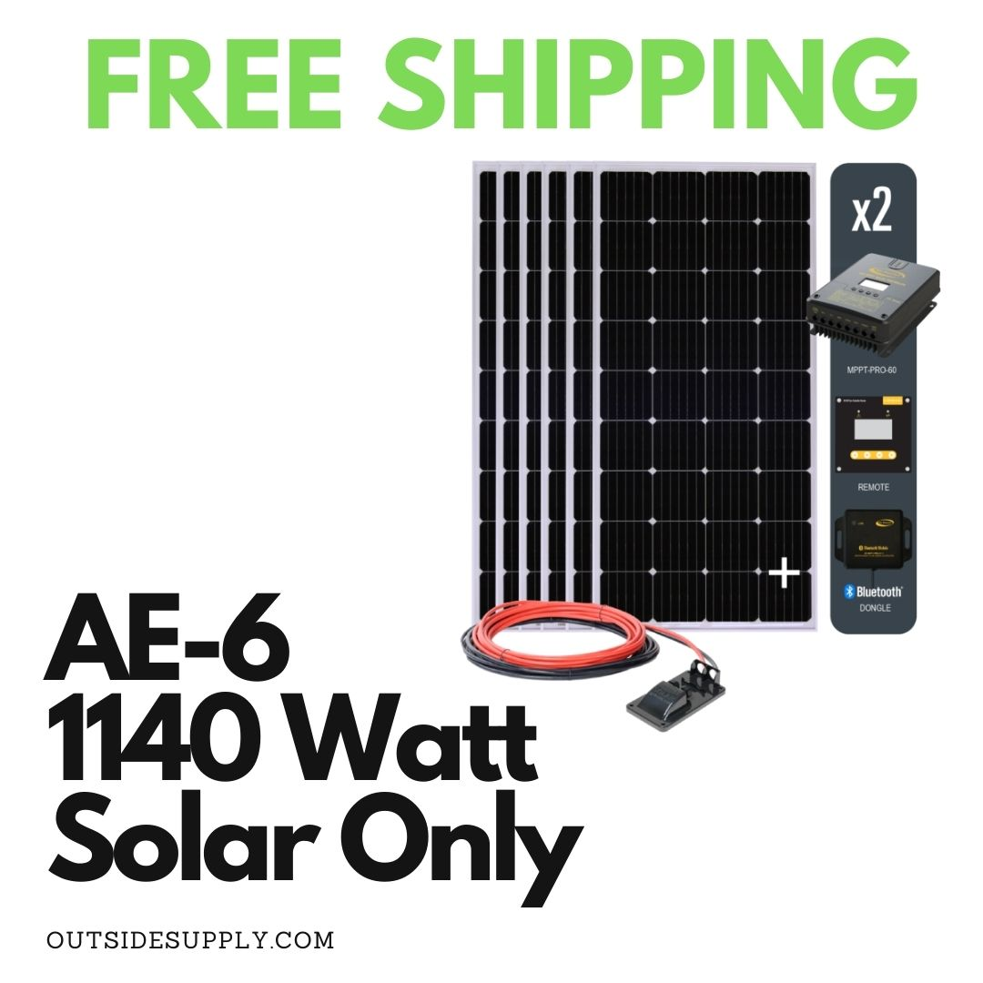 Picture of AE-6 : 1140 WATT SOLAR ALL ELECTRIC KIT WITH MPPT - SOLAR ONLY