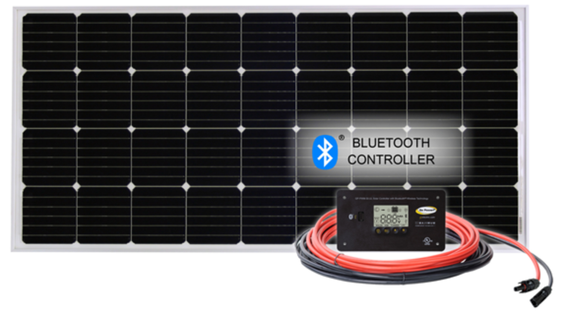 Picture of OVERLANDER: 190 WATT / 9.3 AMP SOLAR KIT W. 30W BLUE TOOTH CONTRL