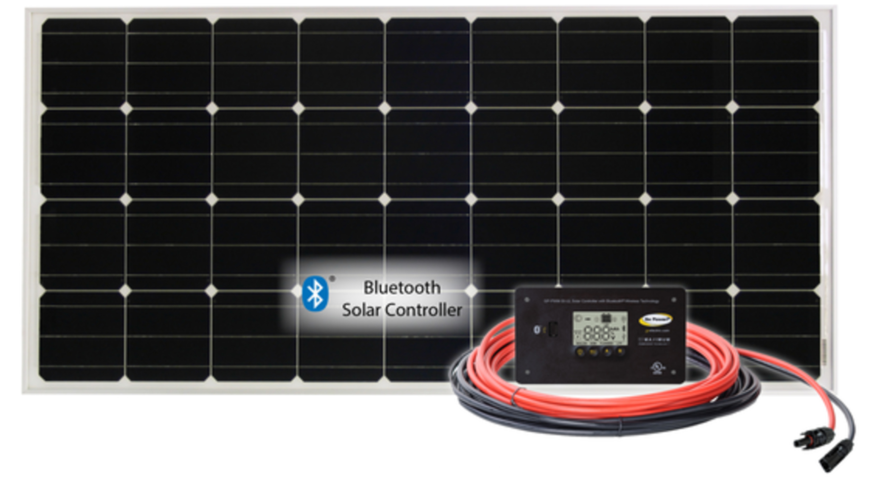 Picture of RETREAT: 100 WATT / 5.43 AMP SOLAR KIT W. 30W BLUE TOOTH CONTRL