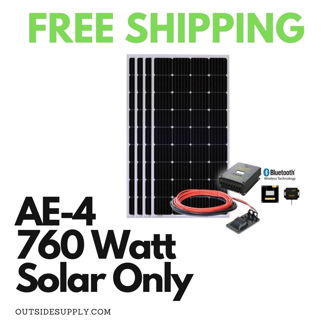 Picture of SOLAR-AE-4: 760 WATT SOLAR ALL ELECTRIC KIT WITH MPPT - SOLAR ONLY