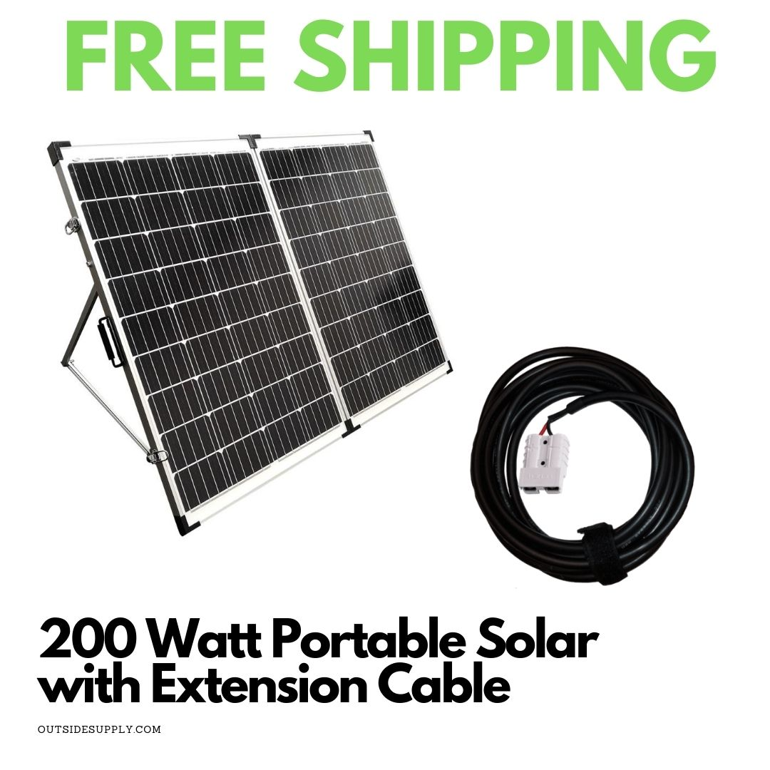 Picture of 200 Watt Portable Solar Kit with 30 Foot Extension Cable
