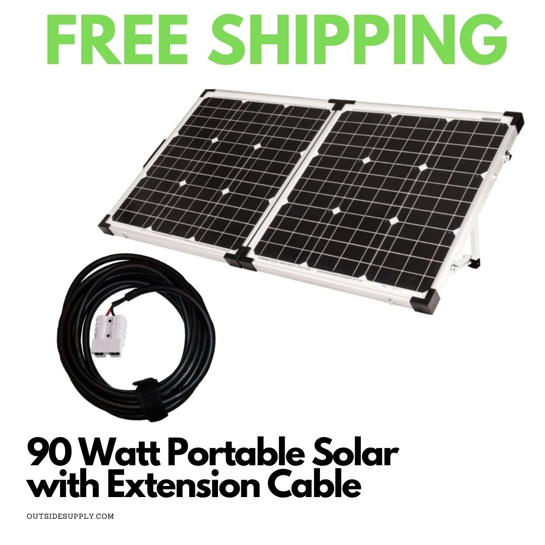 Picture of 90 Watt Portable Solar Kit with 30 Foot Extension Cable